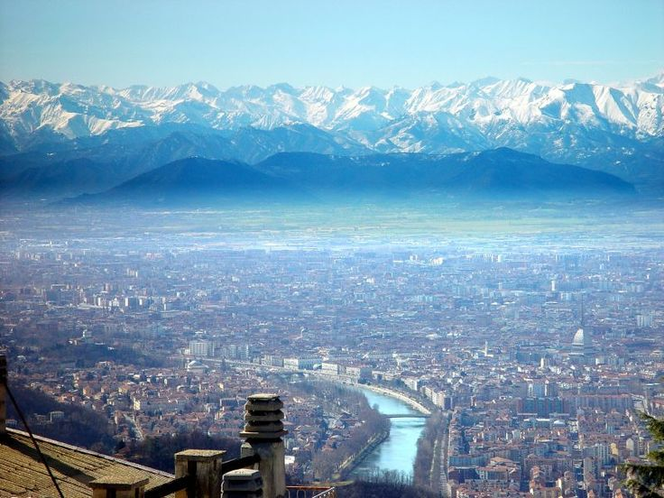 Skyline of Torino from Superga