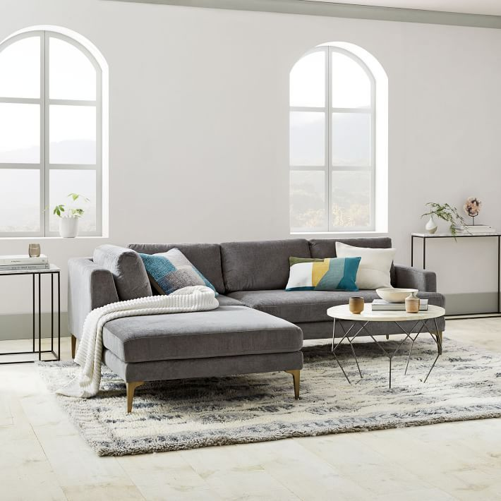 Andes 3 Piece Chaise Sectional In 2019 Modern Contemporary