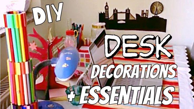DIY Desk Decorations + Essentials | Simple Calendar | Upcycle Cereal box...