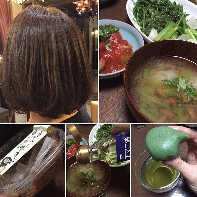 2016/11/04 21:43:46 mizunotomo24 本日は髪のケア日☆ 行きつけの美容院でツヤツヤ☆サラサラに仕上げていただきました(*^^*) これからは特に乾燥しやすい季節。 ホームケア方法もしっかり教えていただいたので 頑張ります‼︎ 顔や体と同様に髪も日々ケアします☆  ケア繋がりで、旬のカブを盛り込んだ食事。 おかひじきとカブの温サラダは 亜麻仁油と甘酢でサッパリ♪  お味噌汁には、なめことカブを。 カブは、実も葉も具として使用 お味噌は、紅麹入り。 体も温まりホッとします(o˘◡˘o)  そして、デザートには草もち。 皮がもっちりしていて美味しかった! 大満足‼︎ 食べることは好き! つい、食べ過ぎてしまうので その自分をそのままにその分動く‼︎ 追い込みすぎず程よくが私のバランス♡  #ボディメイク #style #料理 #健康 #美容 #腹筋 #トレーニング#ダイエット #diet #training #fitness #bodyfitness #conditioning #yoga #yogastudio #pilates #instructor…