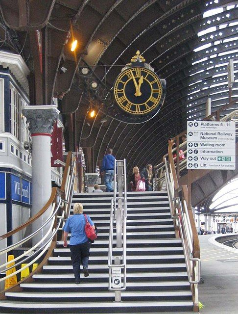 The station clock, York by Pauline Eccles, via Geograph
