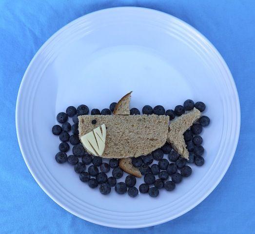 Toothy Kids Lunch: Shark Sandwich - Kid Friendly - Cooking - http://Recipe.com