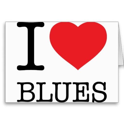 I ♥ BLUES Greeting Card. $5.75 #Blues #Music #Postcard