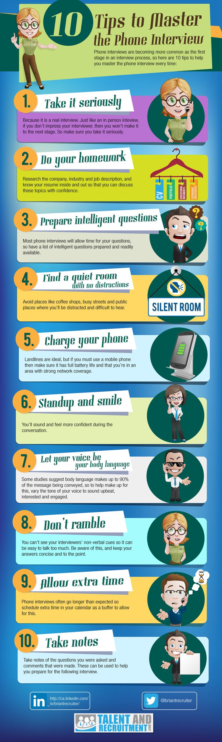 10 Tips for the Perfect Phone Interview [INFOGRAPHIC] #veredus