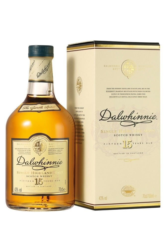 Whisky DALWHINNIE 15 ans 43% - Single Malt, Ecosse / Highlands 70cl http://www.monwhisky.fr - Carrefour 35 €