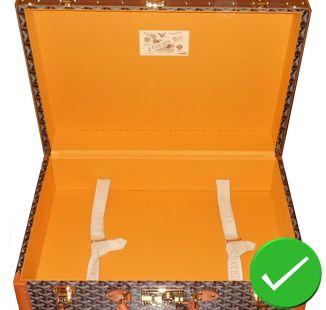 guide d'achat - intérieur malle goyard restauration toile orange