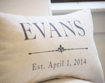 Free Shipping | Second Anniversary Gift | Cotton Anniversary Gift | Farmhouse | Grain Sack Pillow Cover | Charcoal Grey | 2nd Anniversary