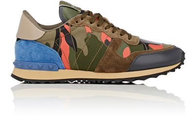 VALENTINO Camouflage Rockrunner Sneakers. #valentino #shoes #sneakers