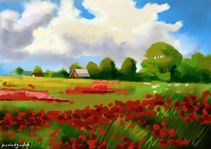 Acrylic digital painting. Created in rebelle software  #art, #digital art, #Photoshop, #brush,# painting,#acrylic,#Wacom,#painter,#illustration,#digital art,# artist,#rebelle