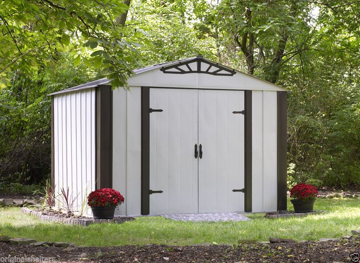 arrow sheds designer series steel shed 10 x 8 medium storage dyi shed kit