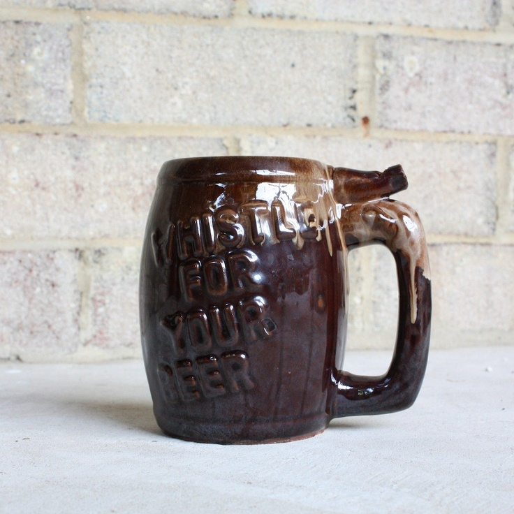 Wet Your Whistle Mug. Vintage Ceramic Beer Stein with ...