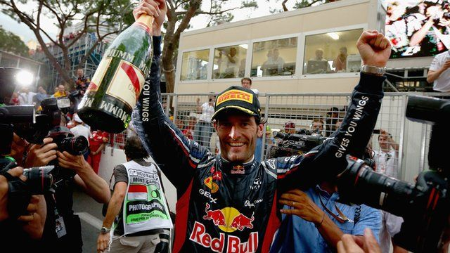 Mark Webber wins for Red Bull in Monte Carlo to become the 6th different winner in this seasons Formula One season.