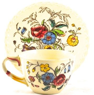 Vintage Mayflower Cup and Saucer - rustic - Cups And Glassware - The Adonis Collection