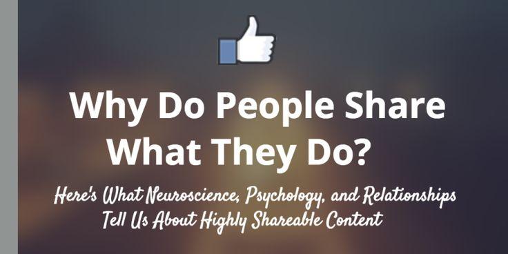 """Reasons Why People Share to #SocialMedia""   https://blog.bufferapp.com/science-of-shareable-content?utm_content=bufferc010b&utm_medium=social&utm_source=pinterest.com&utm_campaign=buffer  #socialmedatips"