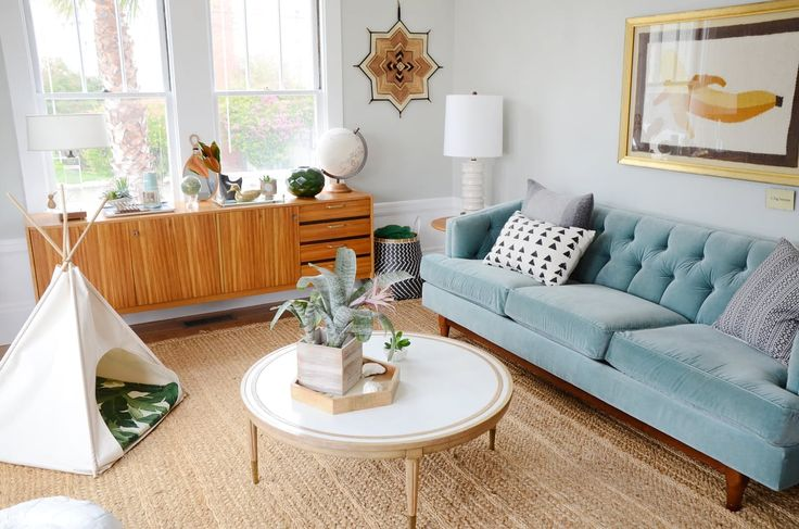"awesome fresh modern vintage living room A ""Happy Californian Golden Girls Greenhouse"" Apartment in San Francisco"
