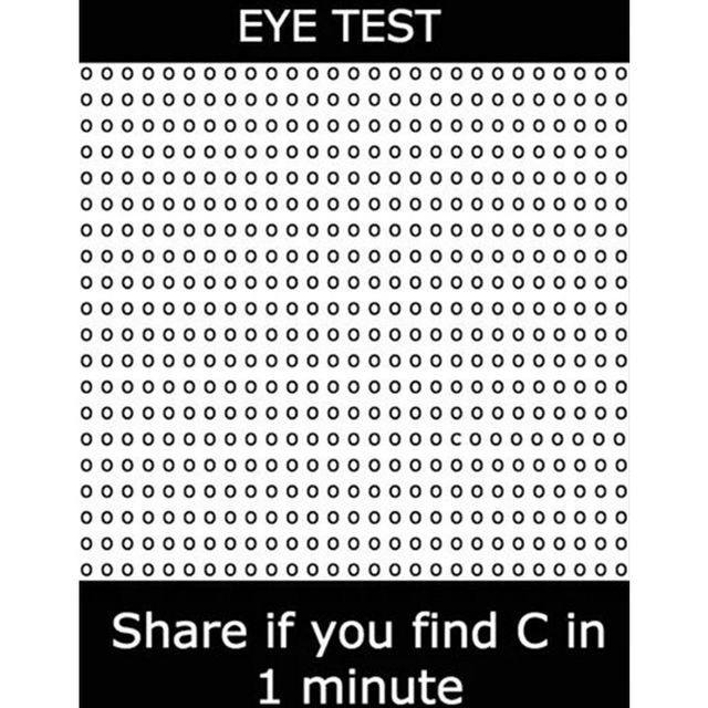 Can You Spot The 'c' In This Optical Illusion? | PlayBuzz