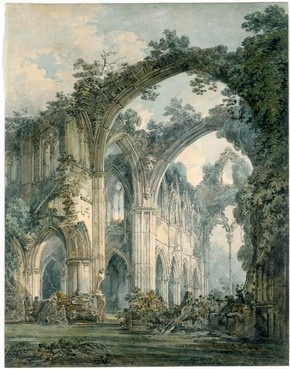 Joseph Mallord William Turner, Inside Tintern Abbey, Monmouthshire, about 1794. Museum no. 1683-1871