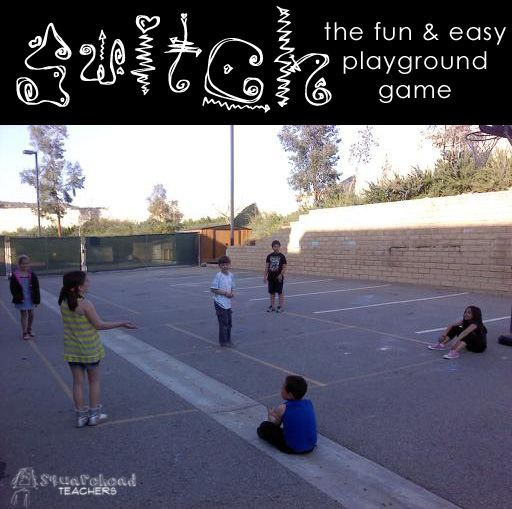 SWITCH (playground game)... way easy, way fun, and works for any grade/combination of grades