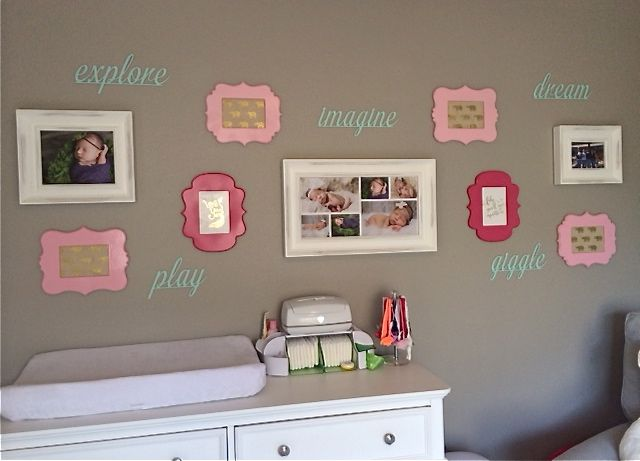 Spray Painted Frames for this Nursery Gallery WallGallery Wall