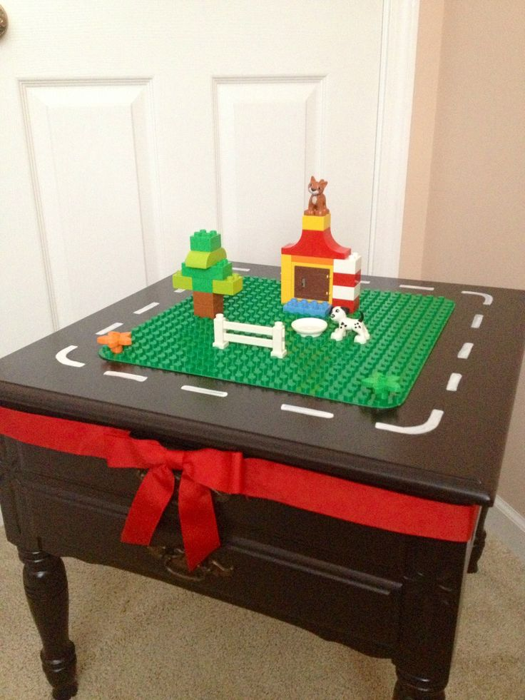 Lego Duplo table is DONE! I can't wait to see his face Christmas ...