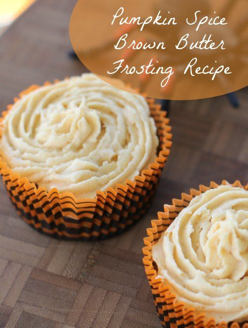 Fall Pumpkin Spice Brown Butter Frosting Recipe :: So good, you will want to eat a whole bowl! ;)