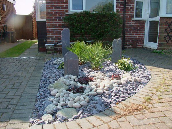 12 best images about driveway ideas on pinterest gravel for Low maintenance front garden