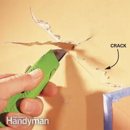 How to repair drywall cracks the right way. From Family Handyman.