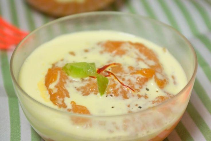 Purée de patates douces et crème de safran