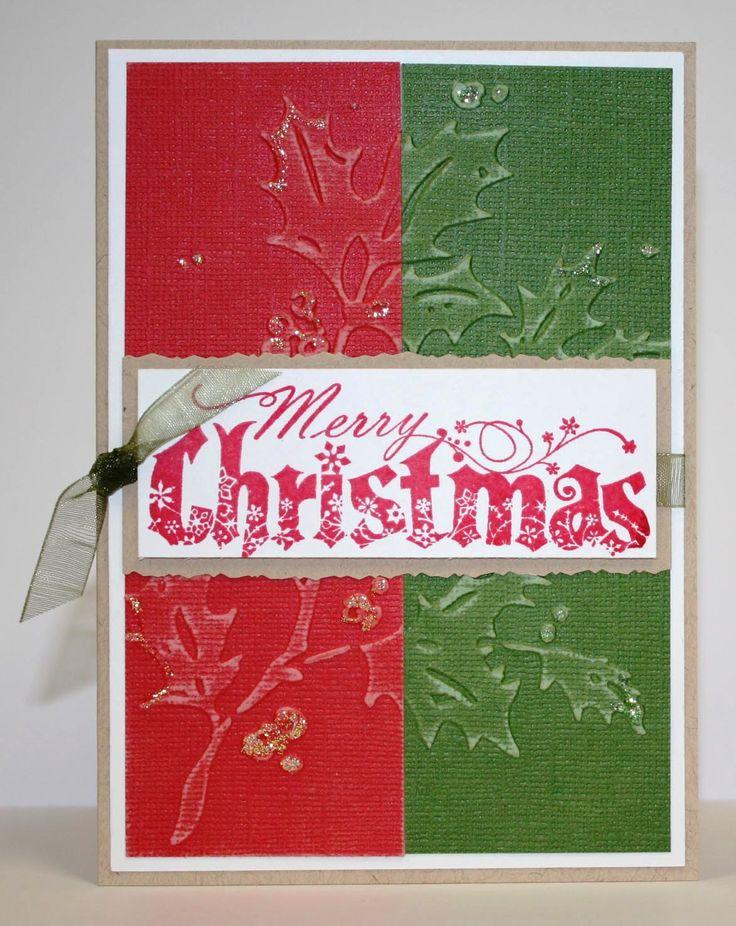 73 best Cuttlebug Christmas cards images on Pinterest Cards