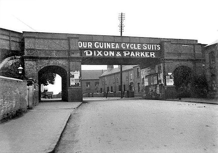 Daybrook railway bridge, Mansfield Road, Nottingham, about 1910.