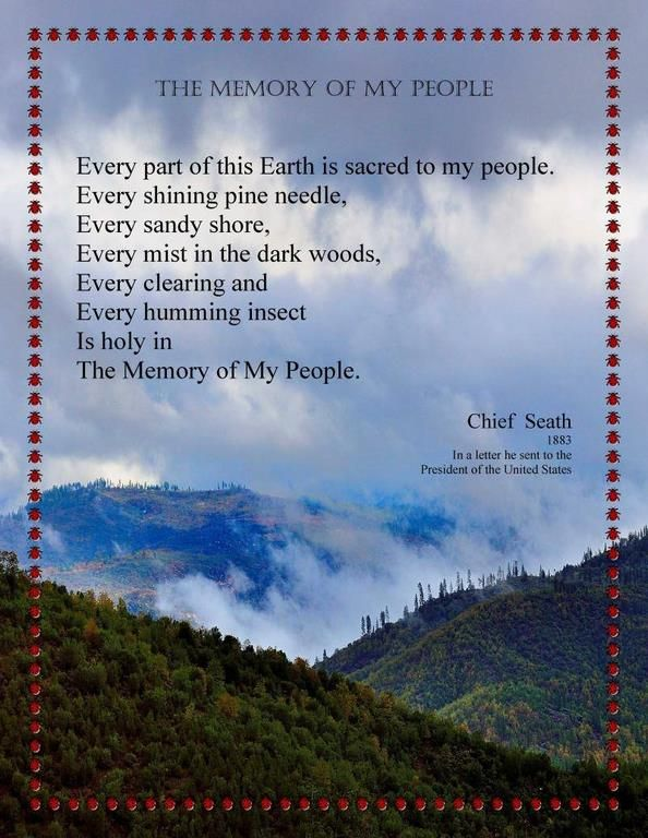 my people chief seattle essay