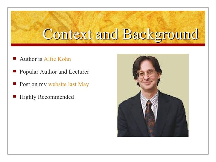Alfie kohn and homework