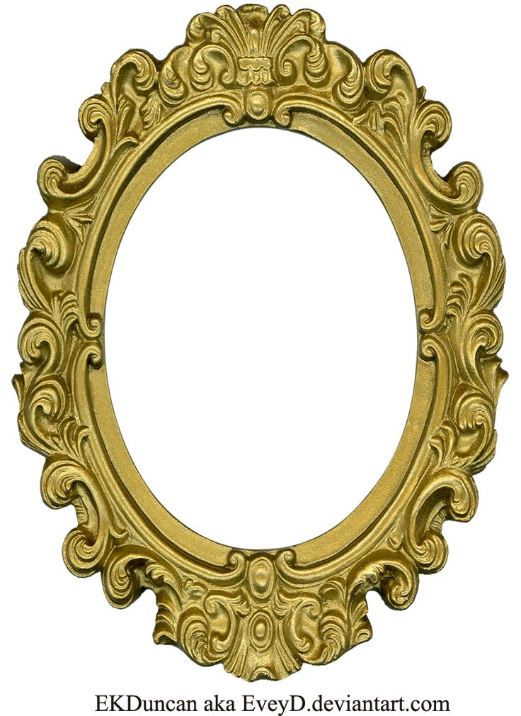 gold oval frame png