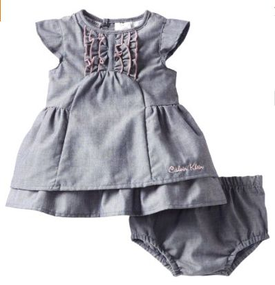 Calvin Klein Baby-girls Newborn Denim Dress with Panty (cute baby clothes for girls) $26.95.  Get it now at http://ilovebabyclothes.com/?product=calvin-klein-baby-girls-newborn-denim-dress-with-panty-cute-baby-clothes-for-girls