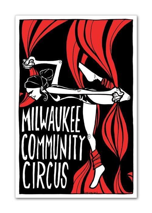 Milwaukee community circus #branding #stickers