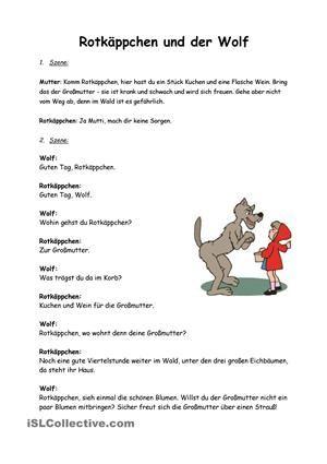 Märchen Rotkäppchen Rollenspiel