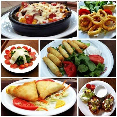 Starters from Planet Yucca Kusadasi's International Menu #food #foodideas