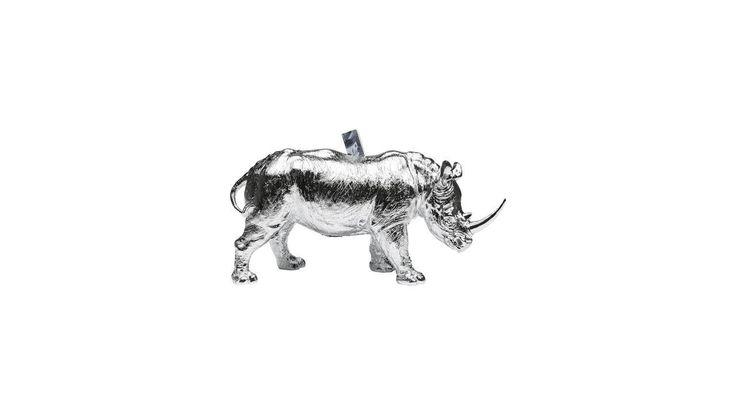 Tirelire Rhino chrome Kare Design