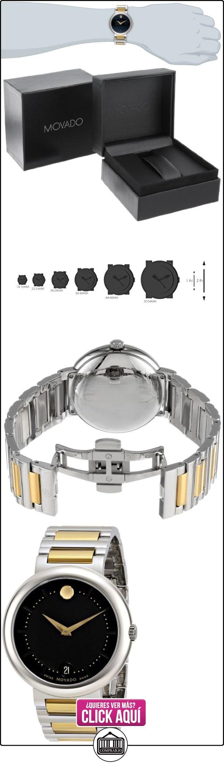 Movado 0606588 - Reloj para hombres, correa de acero inoxidable color blanco  ✿ Relojes para hombre - (Lujo) ✿ ▬► Ver oferta: https://comprar.io/goto/B00BS496R0