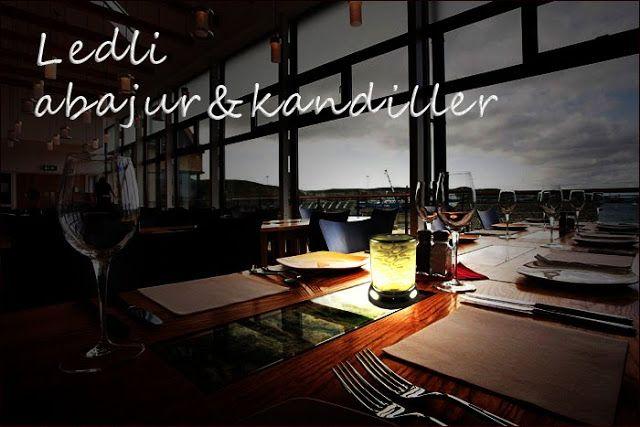 Kafe, Restoran, Bar Aydınlatması: Led Işıklı Pil ile Çalışan Abajur ve Kandiller