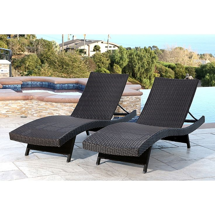 Abbyson Living 174 Redondo Outdoor Adjustable Wicker Chaise