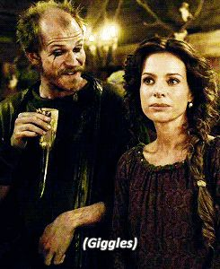 "Siggy: ""Can you keep a secret?"" Floki: *giggles* ""No."" Vikings.Love this show! That's what I would say!"