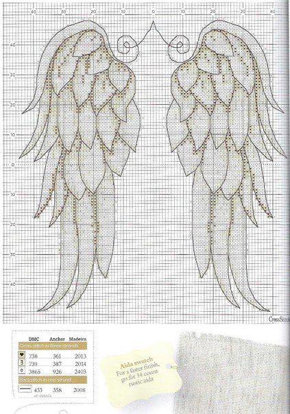 Интересная информация про Крылья ангела-вышивка крестиком.Схема... на сайте Магический декор полностью ответит на все ваши вопросы про Крылья ангела-вышивка крестиком.Схема...