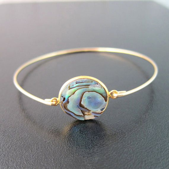 Abalone Shell Bracelet Abalone Shell Jewelry by FrostedWillow