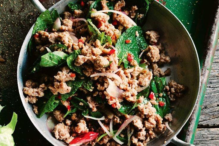 Thai pork larb salad