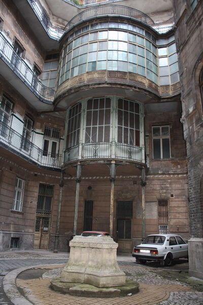 """Courtyard of Szabadság tér 16, Budapest. Seen in """"Maigret Sets a Trap"""""""