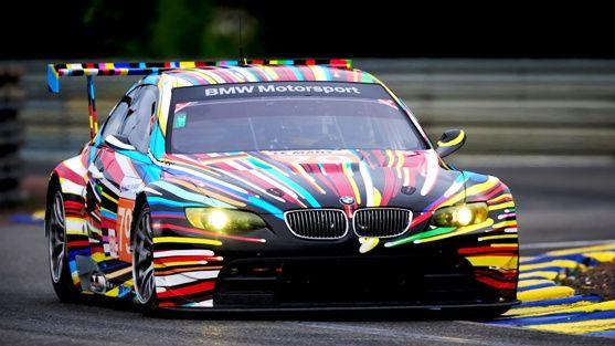 BMW  M 3  GT 2  # 79  (Paint by Jeff Koons)  Le  Mans -  2010