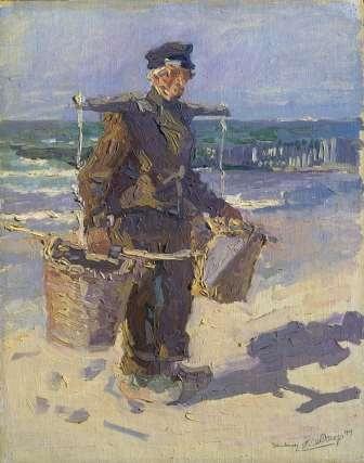 De schelpenvisser, Jan Toorop, 1904 - Rijksmuseum