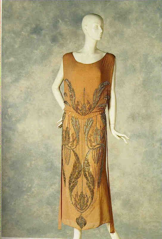 1922 Jean Patou dress. Jean Patou also created a collection of designer fragrances that are still sold. Via fashion art.