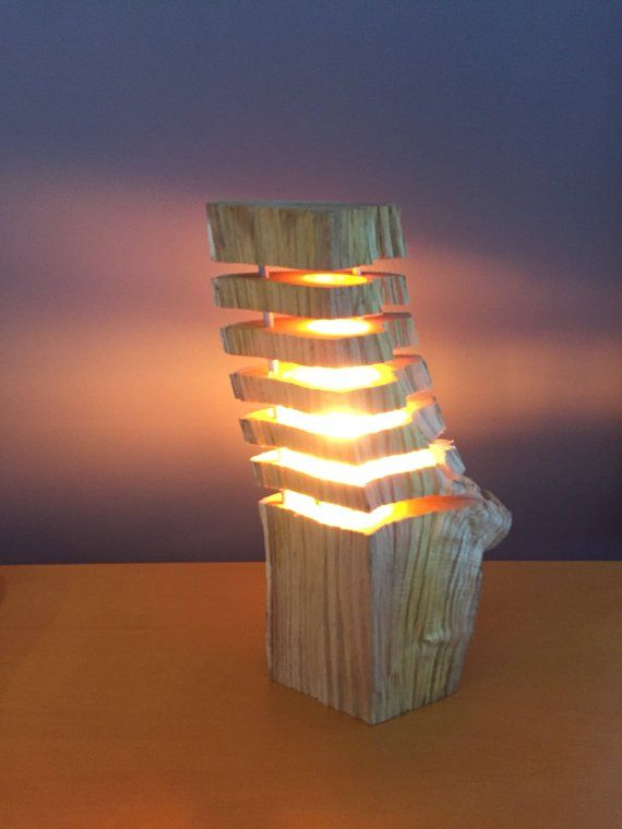 Fragmentierten Holz 6 Led Lampe Log Lampe Lampe Motiv Natur Dim 30 H X 12 B Led Lampe Wood Lamps Wood Feature Wall Lamp